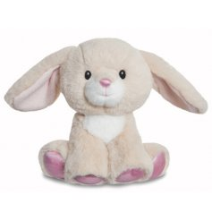 A charming little cuddle companion for any little one, a cuddly bunny soft toy from the Glitzy Tots range