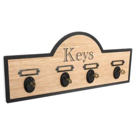 Antique Key Hook Display, 43cm