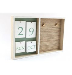 a wooden framed calendar board with an added natural grass clip memo space