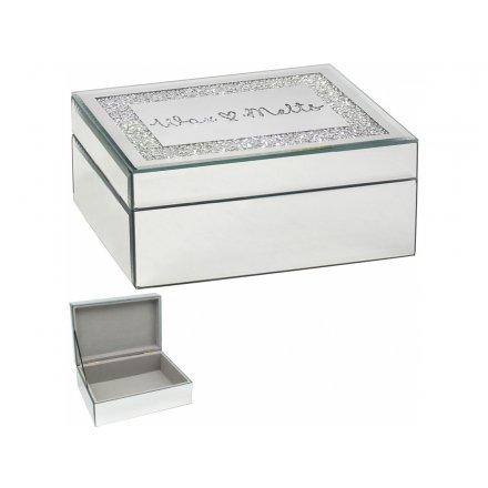 Wax Melts Crystal Mirror Box, 21cm