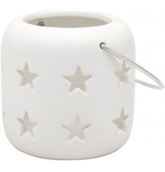 A sweet and simple little tlight holder set with cut star decals
