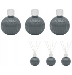 A set of 3 mini Diffusers each filled with a stunning and freshly themed Magnolia & Mulberry liquid