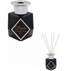 this Desire Boutique Reed Diffuser features a sleek clean look and silver cap decal