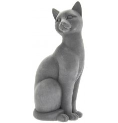 A simple themed ornamental cat figure in a cute sitting pose