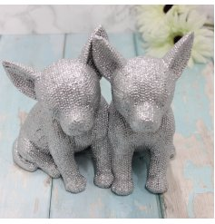 Covered with glittery bling decals, this Luxe themed Chihuahua ornament is a must have for any home