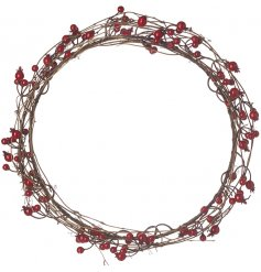 A chic and simple wreath that can be combined with any themed space at Christmas Time