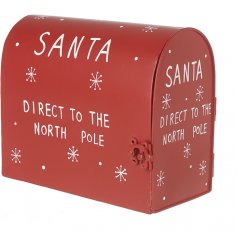 With its Festive Red tones, printed text and snowflake decal,