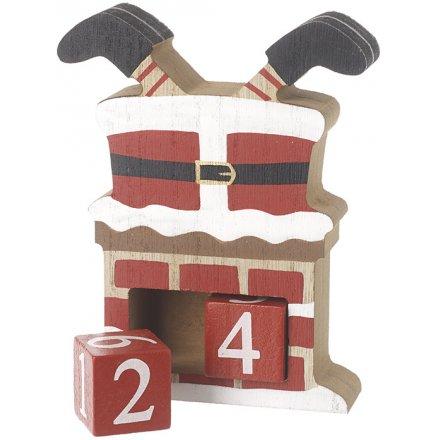 Perpetual Santa In Chimney Calendar