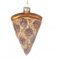 A tasty looking Deep Dish Pizza bauble with extra cheese and pepperoni