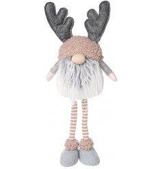 Gonk Grey Beard & Antlers - 49cm