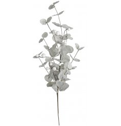 Adorn your home with this silver foliage spray, complete with glitter and white berries.
