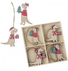 A Delightful set of little hanging decorations are sure to bring a Character touch to your tree display at Christmas