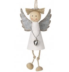 this sweet hanging angel figure is perfect for any tree at Christmas Time