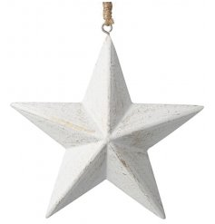 Hanging Rustic Wooden Star - Christmas Decoration