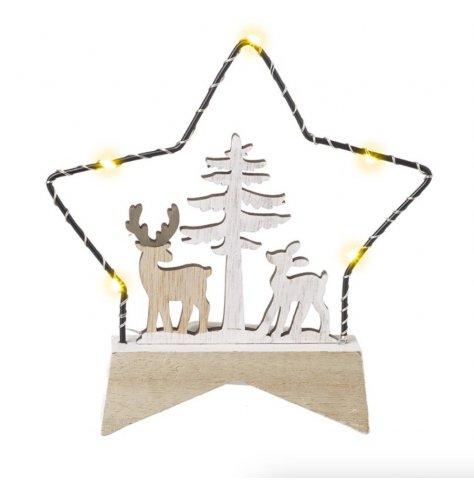 Light Up Winter scene in star shape.