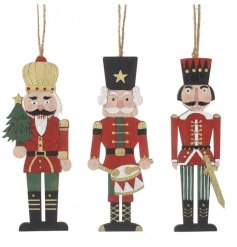 Hanging Nutcracker Soldier Decorations 15cm