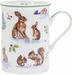 Set with its watercolour inspired woodland decal, this China Mug is part of a charming new range of home and kitchenwar