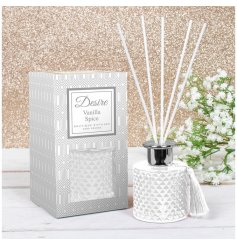 stunning diamond ridge diffuser filled with a Vanilla Spice scented oil