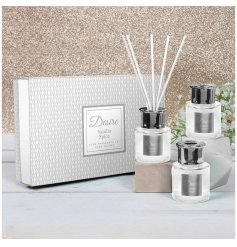 a stunning diamond ridge diffuser filled with a Vanilla Spice scented oil