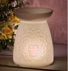 this gorgeously simple ceramic tlight holder provides a bright and warming glow to any home space