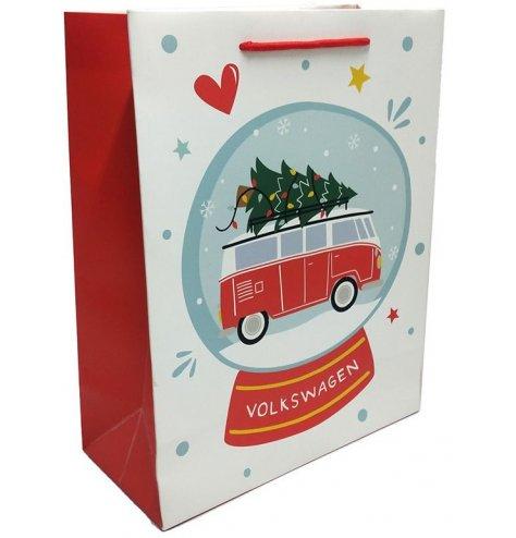 Festive themed Volkswagen camper van gift bag