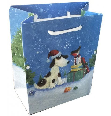 Festive themed dog and bird gift bag from the renowned Jan Pashley range of products.
