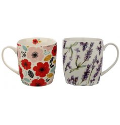 Sure to add a pop of colour to any kitchen space or tea break! A set of 2 mugs from the Pick of the Bunch botanical ran