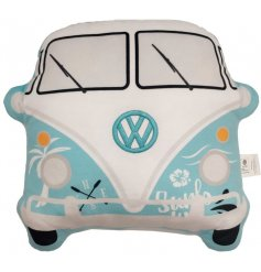 Sure to add a pop of colour to any sofa or bed, a Volkswagen camper shaped cushion with groovy blue tones