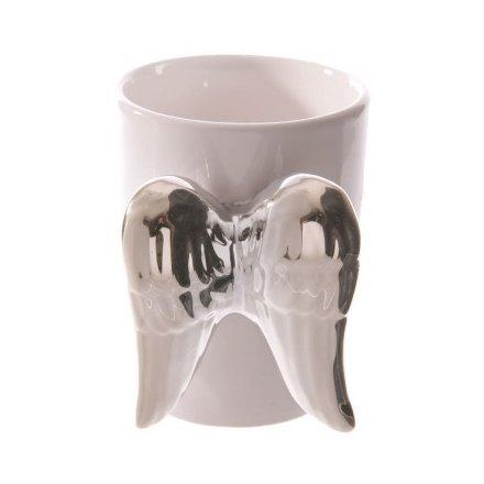 Silver Angel Wing Mug