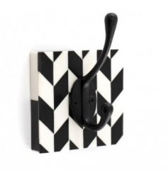 Bring a stylish hint to any space needing additional storage, a Monochrome themed wall hook with a sturdy iron hook