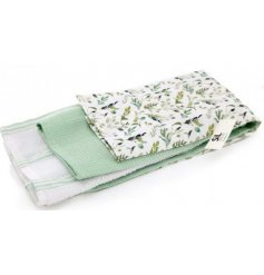3 Piece Pack Of Olive Grove Tea Towels
