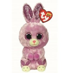 An adorable purple toned bunny soft toy from the TY Beanie Boo Range
