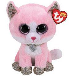 From the TY Beanie Boo Range meet Fiona, who is an adorable pink and gold fox soft toy.