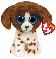 From the TY Beanie Boo Range meet Muddles, who is an adorable brown and white spaniel dog soft toy.