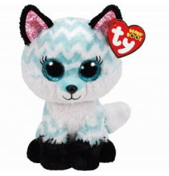 From the TY Beanie Boo Range meet Atlas, who is an adorable white and blue fox soft toy.