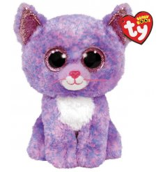 A cute and cuddly cat themed soft toy from the TY Beanie Boo Range