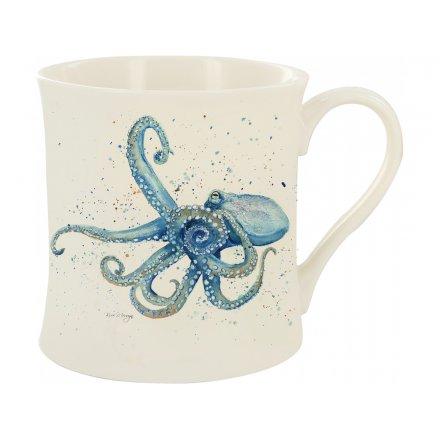 Splash Art Octopus Mug