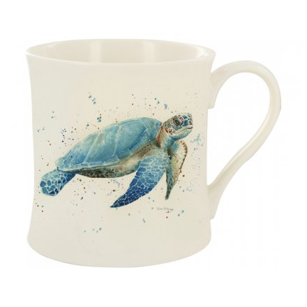Splash Art Turtle Mug