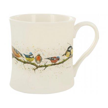 Splash Art Bird Branch Mug