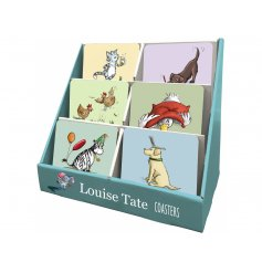 Assortment  Of 6 Design Animal Coasters In Display Box