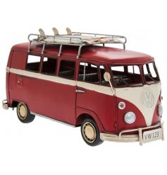 Relive your youthful exploits through this vintage style VW campervan!