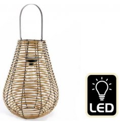 Enhance your outdoor living space with this gorgeous scandi inspired solar lantern.