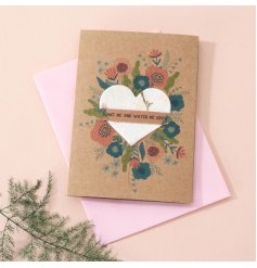 A beautiful little Pick Me Up idea to give to any recipient, a charmingly printed greeting card with an added seed pack