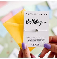 A small, simple and sentimental gift idea for any loved who needs a wish on their birthday,