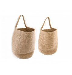 A small and large jute basket, great for additional storage!