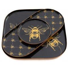 3 Metal Bee Trays