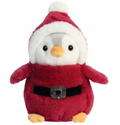 Sure to add some festive feel to any snuggle time! A Penguin called Pompom dressed up as santa!
