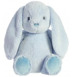 A super snuggly and cuddly bunny soft toy with a charming blue hue colouring
