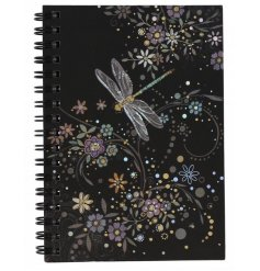 A6 Notebook with Dragonfly design