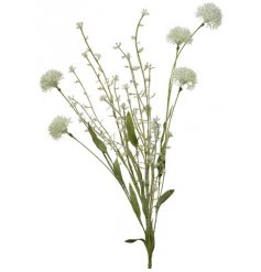Fill your pretty jugs and vases with this beautiful artificial white dahlia spray.